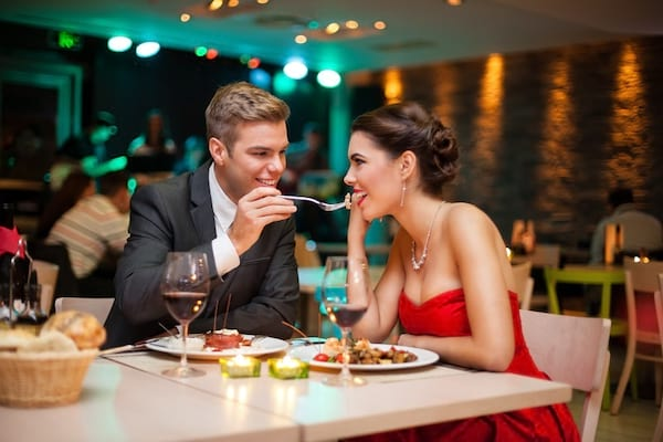 sex, relationships, romantic, couple, dinner date