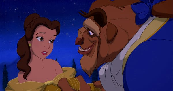 beauty and the beast, Disney, belle, yellow dress, cartoon, movies/tv