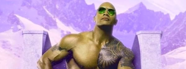 Dwayne Johnson, the rock pop art, celebs