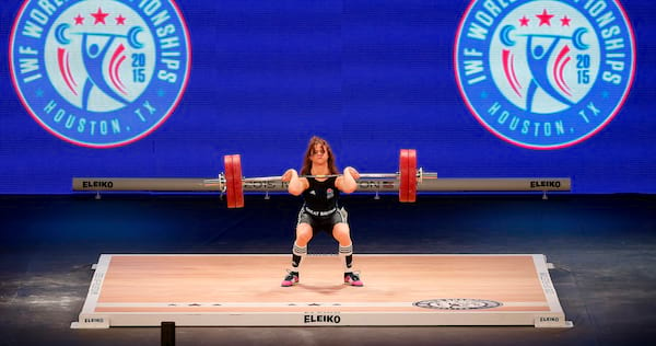 Woman lifting weights., science & tech