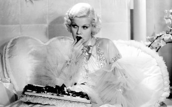 movies/tv, celebs, Jean Harlow, dinner at 8