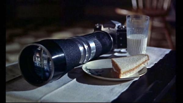 the camera, Rear Window, movies