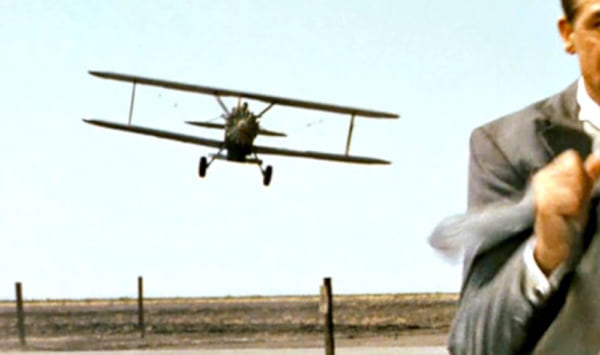 crop duster plane, North by Northwest, movies