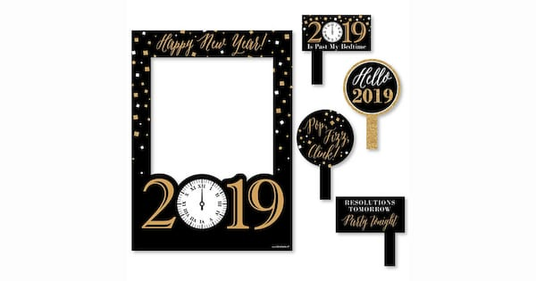 2019, New Year's Eve photo booth props 2018