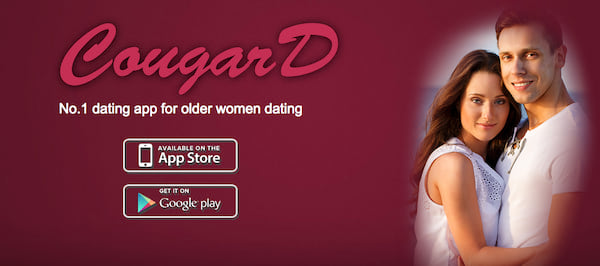 Homepage for CougarD dating site